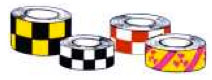 Checkerboard Patterned Hazard Tape